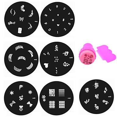 11 pcs Stamping Plate Flower / Fashion Daily / Metal