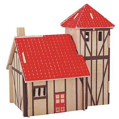 voordelige 3D-puzzels-Legpuzzels Houten puzzels Bouw blokken DIY Toys Bol Huis 1 Hout Kristal Modelbouw & constructiespeelgoed