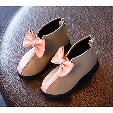 Tyttöjen Kengät Tekonahka Comfort Bootsit Käyttötarkoitus Kausaliteetti Musta Harmaa