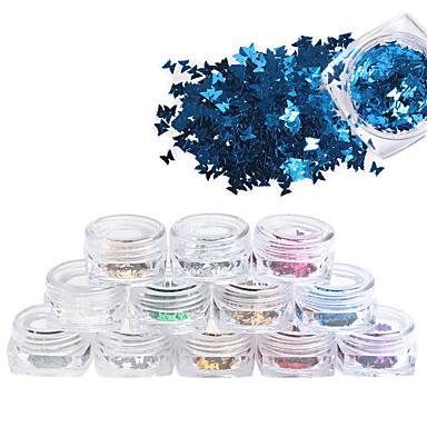 12Pcs/box Nail Smykker Nail Art Design Glitters / Mote Daglig