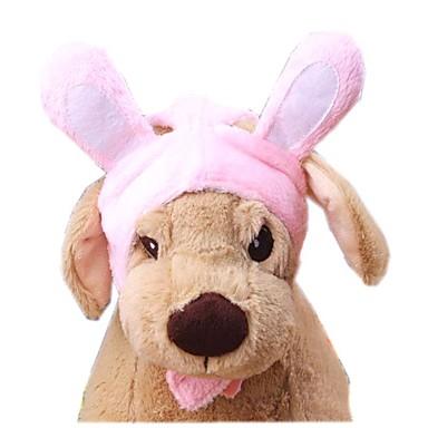 Kat Hund Kostume Hodetørklær og hatter Hundeklær Ensfarget Rosa Polar Fleece Bomull Kostume For kjæledyr Herre Dame Søtt