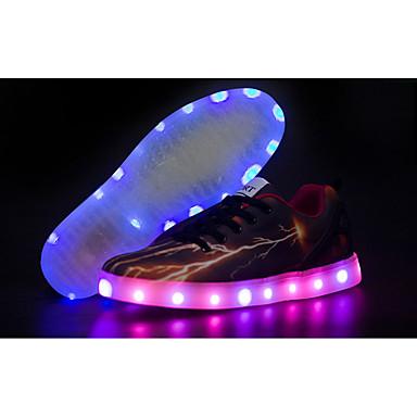 男性-アウトドア-PUレザー-フラットヒール-コンフォートシューズ 靴を点灯-アスレチック・シューズ-ブラウン
