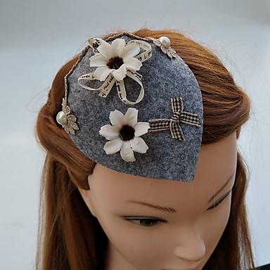 Damen Spitze Stoff Kopfschmuck-Hochzeit Besondere Anlässe Kopfschmuck Mützen Haarclip