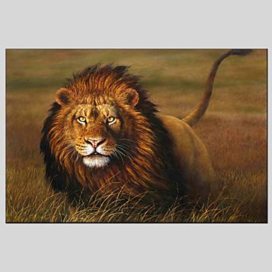 ハング塗装油絵 手描きの - 動物 クラシック / 近代の キャンバス