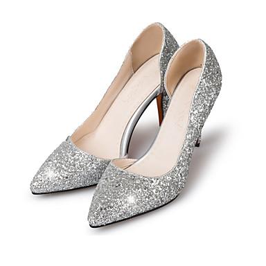 Damen Schuhe Glanz Frühling Sommer Herbst High Heels Stöckelabsatz Spitze Zehe Paillette für Hochzeit Normal Party & Festivität Gold