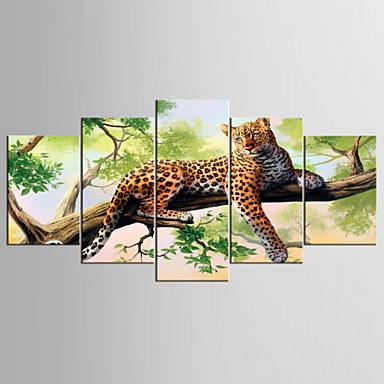 抽象画 動物 近代の リアリズム,5枚 キャンバス 任意の形状 プリント 壁の装飾 For ホームデコレーション