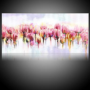 Hang malte oljemaleri Håndmalte - Blomstret / Botanisk Parfymert Moderne Uten Indre Ramme / Valset lerret