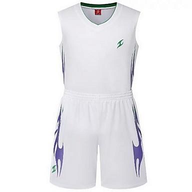 Herrn Damen Kurzarm Basketball Laufen Sweatshirt Oberteile Baggy Shorts Atmungsaktiv Schweißableitend Komfortabel