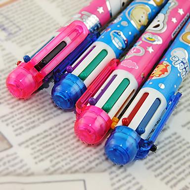 Kalem Kalem Tükenmez Kalemler Kalem, Plastik Kırmızı Siyah Mavi Sarı Mor Yeşil mürekkep Renkleri For Okul malzemeleri Ofis malzemeleri