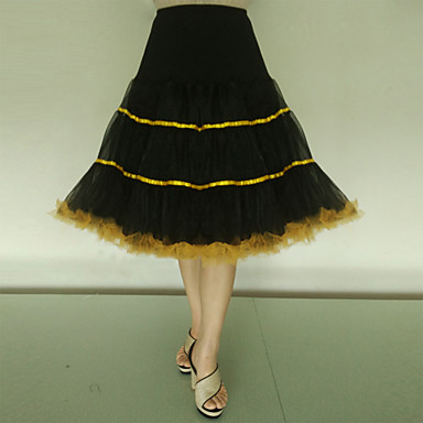 Ślub Specjalne okazje Impreza / bal Codzienny Halki Spandeks Tafta Tiul Lycra Do kolan Halka A-line Halka do sukni balowej Classic &