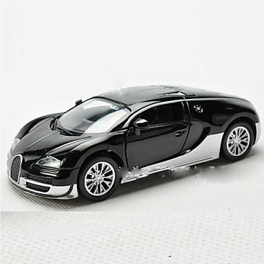Action Figure Modelo e Blocos de Construção Carro Metal Preta / Branco / Laranja para Boy acima de 3