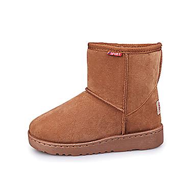 Meisjes Schoenen Katoen Weefsel Herfst Winter Comfortabel Snowboots Laarzen Wandelen Voor Causaal Formeel Zwart Taupe koffie
