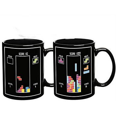 Magic farveskiftende Toy Bricks Mønster Keramisk Cup Mug