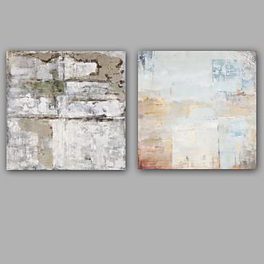 Hang malte oljemaleri Håndmalte - Abstrakt Europeisk Stil Moderne Lerret