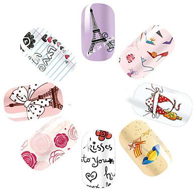 - Finger - 3D Nails Nagelaufkleber / Nail Schmuck - PVC - 1pcs Stück - 145*75mm cm