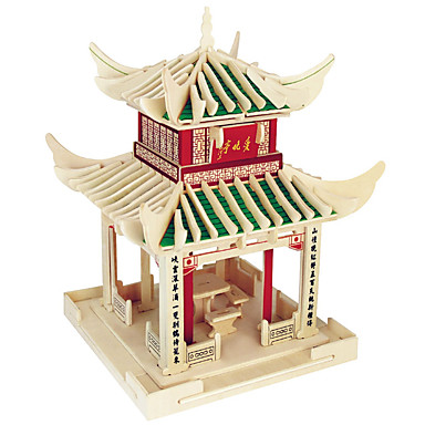 Palapelit Puiset palapelit Rakennuspalikoita DIY lelut Sfääri Kiinalainen arkkitehtuuri 1 Puu Kristalli Rakennuslelu