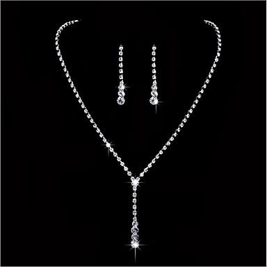 Mulheres Gema Conjunto de jóias - Incluir Branco Para Casamento / Festa