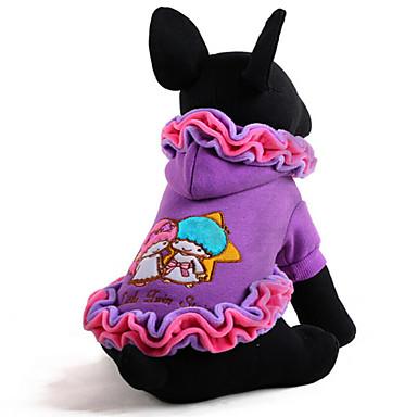 犬 ドレス 犬用ウェア キュート カジュアル/普段着 キャラクター パープル ピンク コスチューム ペット用
