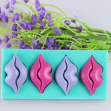 usta w kształcie ciasto czekoladowe kremówki formy silikonowe, narzędzia dekoracji bakeware