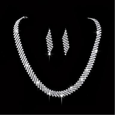 Mulheres Conjunto de jóias - Prata Chapeada Incluir Prata Para Casamento Festa