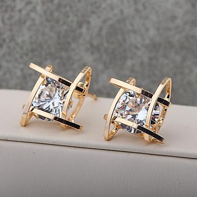 Pentru femei Fete Cristal Cercei Stud Cercei Picătură Placat Auriu cercei Bijuterii Auriu / Argintiu Pentru Nuntă Petrecere Casual 1 buc