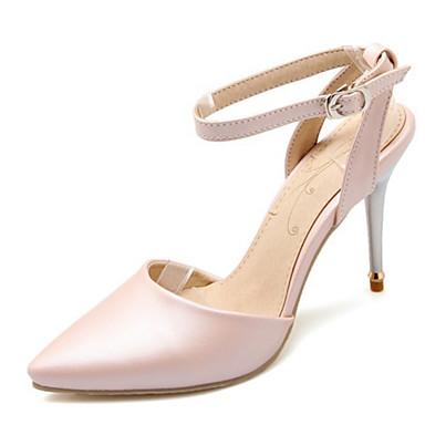 Pentru femei Pantofi Imitație de Piele Primăvară Vară Toc Stilat Funde pentru Casual Rochie Party & Seară Alb Roz Negru Albastru
