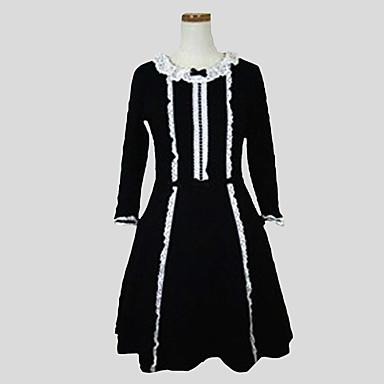 Gothik Prinzessin Damen Einteilig Kleid Cosplay Langarm