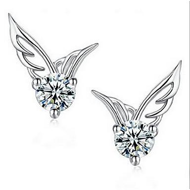女性 スタッドピアス ジュエリー ファッション 純銀製 翼 / 羽 ジュエリー 用途 日常 カジュアル