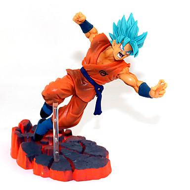 Las figuras de acción del anime Inspirado por Bola de Dragón Son Goku CLORURO DE POLIVINILO 14 cm CM Juegos de construcción muñeca de juguete