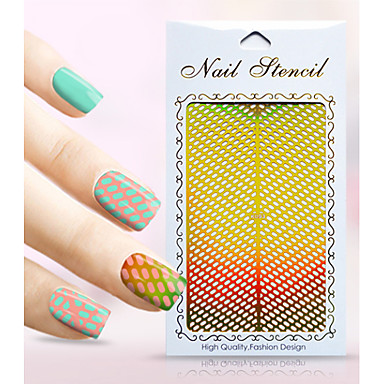 1 pcs Diecut Manicure Stencil / Kynsien korut Kukka / Cartoon Lovely
