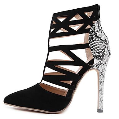ウェディング ドレスシューズ パーティー-スエード-スティレットヒール-コンフォートシューズ アイデア クラブシューズ 靴を点灯-サンダル-ブラック