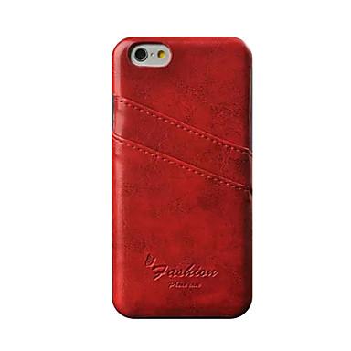 Case Kompatibilitás Apple iPhone 8 iPhone 8 Plus iPhone 6 iPhone 6 Plus Kártyatartó Fekete tok Tömör szín Kemény PU bőr mert iPhone 8