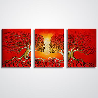 抽象画 抽象的な風景画 近代の リアリズム,3枚 キャンバス 横式 プリント 壁の装飾 For ホームデコレーション