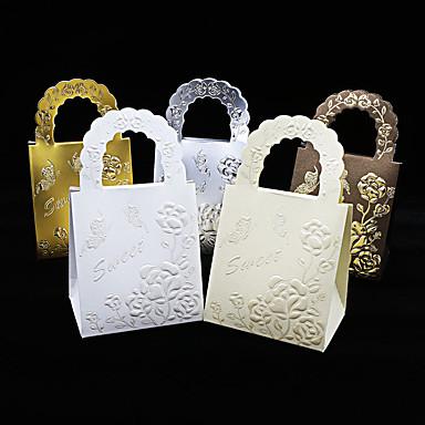 Redondo Cuadrado De Forma Cúbica Papel de tarjeta Soporte para regalo  con Estampado Cajas de regalos