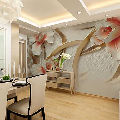 preget stor blomst tilpasset 3d stor veggdekorasjon veggmaleri tapet egnet restaurant soverom stue hotel blomst