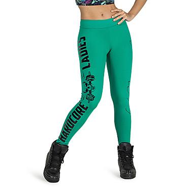 Dame Joggebukser Pustende Komprimering Ultralett stoff Leggings Bunner Yoga & Danse Sko Boksing Trening & Fitness Racerløp Løp Polyester