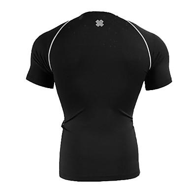 男性用 ランニングTシャツ ベースレイヤー ノースリーブ 速乾性 高通気性 ベースレイヤー のために エクササイズ&フィットネス ランニング スパンデックス タイト ブラック M L XL XXL XXXL