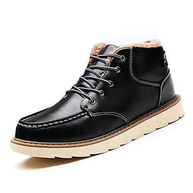 Herren-Sneaker-Büro Lässig-Mikrofaser PU-Flacher Absatz-Komfort-Schwarz Blau Braun