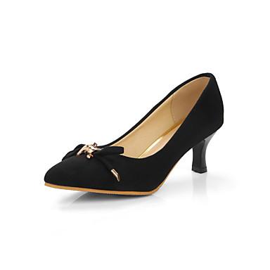 Mulheres Sapatos Courino Primavera Verão Conforto Saltos Caminhada Salto Sabrina Dedo Apontado Presilha para Casual Social Preto Fúcsia