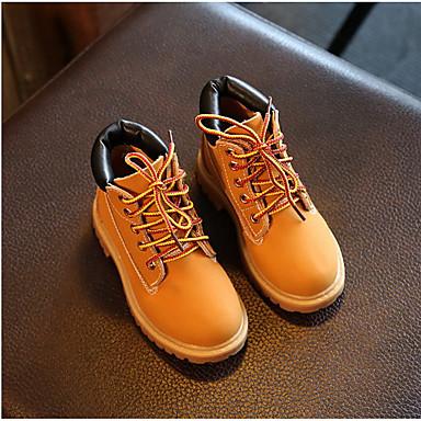 Bootsit-Kiilakorko-Poikien-Nahka-Keltainen-Ulkoilu Rento-Muut
