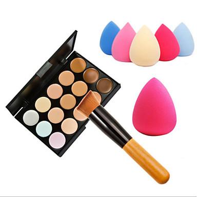 15 cores Bálsamo Concealer / Contour Pincéis de Maquiagem Rosto Alta Qualidade Maquiagem Cosmético