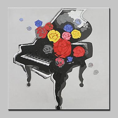 手描きの 抽象画 静物画 油彩画,Modern 欧風 1枚 キャンバス ハング塗装油絵 For ホームデコレーション