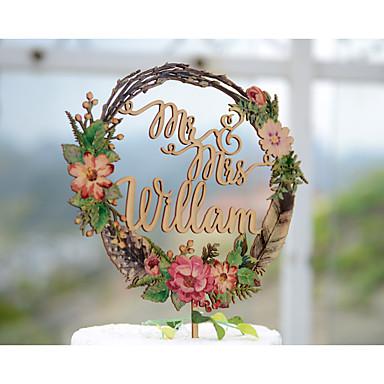kake topper hage tema floral tema klassisk tema tema tema klassisk par akryl / polyester bryllupsdagen med # poly-bag