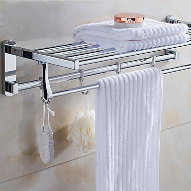 Estantería de Baño Modern Acero inoxidable 1 pieza - Baño del hotel Doble