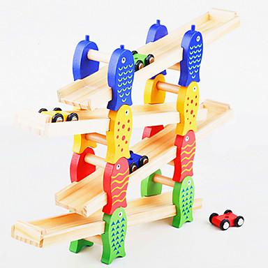 baratos Brinquedos de Montar-Blocos de Construir Conjunto de construção de brinquedos Brinquedo Educativo Carrinho de Fricção 1 pcs Peixes Carro Criativo Novidades Para Meninos Para Meninas Brinquedos Dom / Madeira