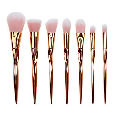 7pcs Pinceles de maquillaje Profesional Pelo Sintético / Pincel de Fibra Artificial Cobertura completa Plástico