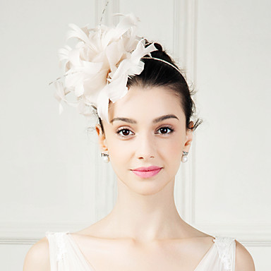 feather fascinators blomster headpiece klassisk feminin stil