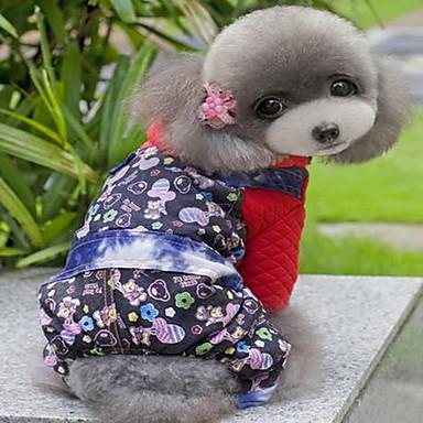 Hund Mäntel Hundekleidung Niedlich Cartoon Design Rosa Regenbogen Streifen Kostüm Für Haustiere