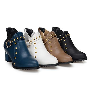Cheville Automne rond Femme à Mode Talon Bottes Bout Polyuréthane 05511739 Chaussures la Confort Bottes Bride Hiver Bottier Randonnée de TqE0Pq