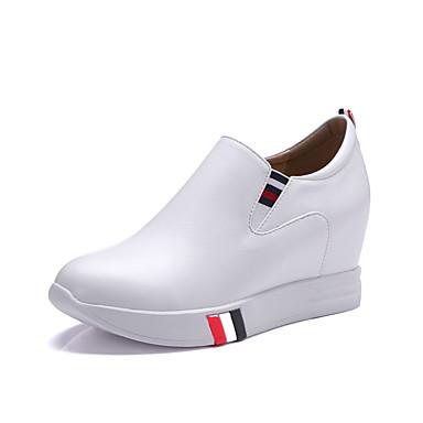 Damen Schuhe Kunstleder Frühling Sommer Herbst Winter Sneakers Walking Plattform Runde Zehe Elastisch Für Normal Kleid Party & Festivität